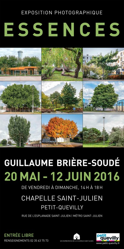 affiche exposition essences guillaume briere-soude